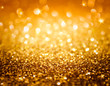 canvas print picture - golden glitter and stars for christmas background