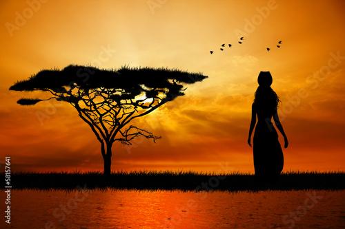 Fototapeten,saeule,afrikanisch,baum,hintergrund