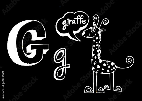 A b c  cartoon text font Hand drawing vector letters