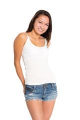 Beautiful smiling asian young woman