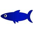 иллюстрация красивая синяя рыба