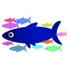 стая морских рыб