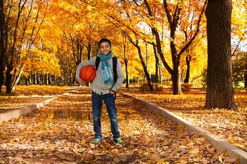 On the way to play basketball