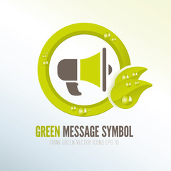 Green symbol for spreading ecologic messages