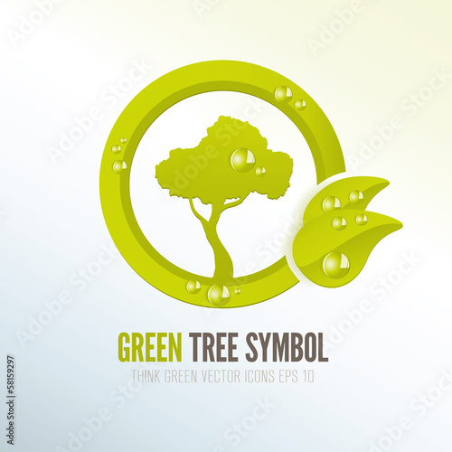 Green eco-friendly tree icon