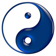 Yin Yang blue