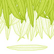 Seamless natural pattern with long leaves.