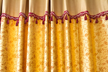 Gloden stage curtain