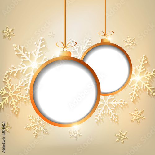 christmas vector background with stars and snow