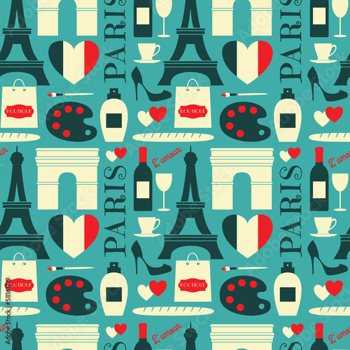 Seamless Paris Background