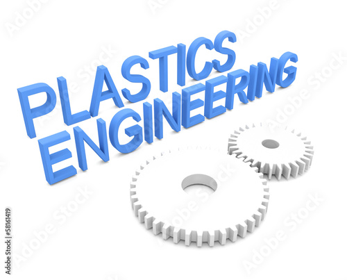 3d concept of Plastics engineering