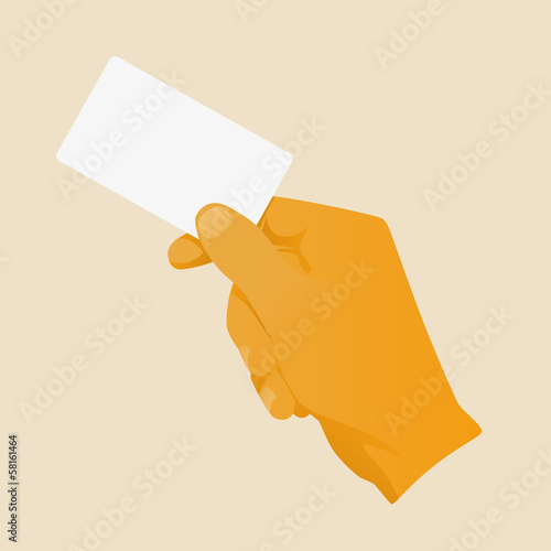 hand business card