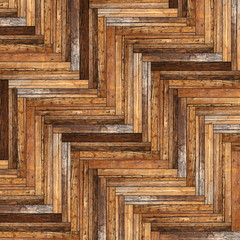 ancient beautiful parquet pattern