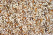 A very close view of assorted shades of brown plush carpeting