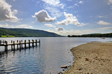 Shore of Coniston Water and jetty