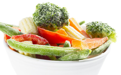 Frozen vegetables.
