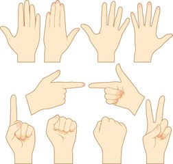 Gesture of hands