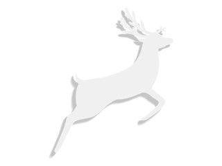paper reindeer on a white background