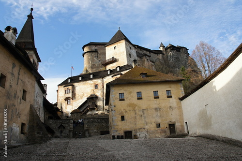 Quadrangle of Orava castle, Slovakia