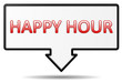 Schild - happy hour