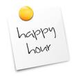 Zettel weiß - happy hour
