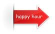 Etikett Pfeil - happy hour
