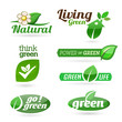 Ecology - Green - Renewable  icon set