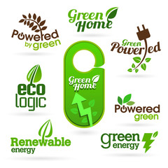 Bio - Ecology - Green icon set
