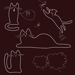 sketches, doodle, cats