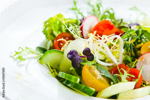Fotobehang Salade fresh salad
