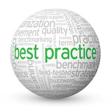 """BEST PRACTICE"" Tag Cloud Globe (process improvement business)"
