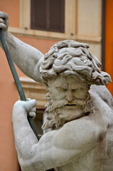 Triton fountain in Piazza Navona, Rome, Otaly