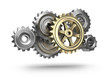 Steel gear wheels icon