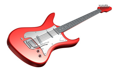 Electric Guitar . 3D image. My own design
