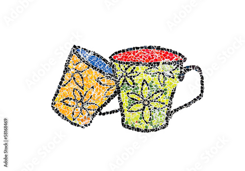 colorful mosaic cup
