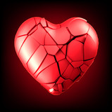 breaked heart vector illustration
