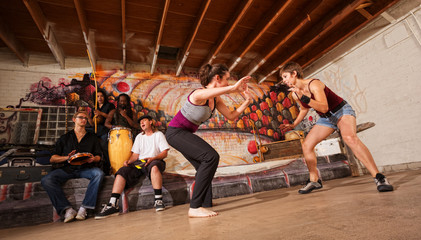Female Capoeira Martial Artists