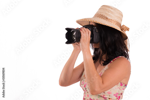 Woman with camra