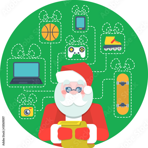 Santa Claus and a Wishlist