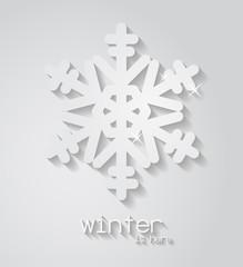 White vector snowflake