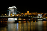 The Szechenyi Chain Bridge in Budapest, Hungary