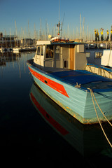 fisherman's boat in the harbour of Trieste