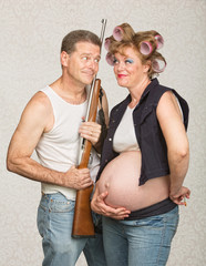 Adorable Eccentric Pregnant Couple