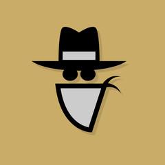 Cowboy icon or sign, vector