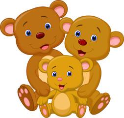 Bear family cartoon