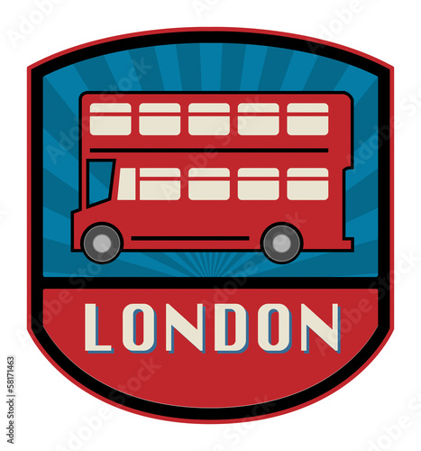 Bus label, vector