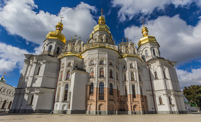 Front of the cathedral in the Kiev Pechersk Lavra