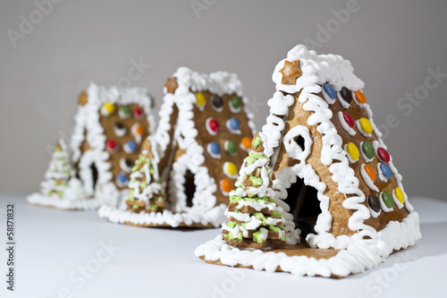 Three Gingerbread Houses