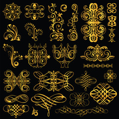 gold elements of the pattern. set2.