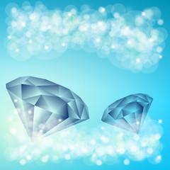 dwa diamenty i niebieskie tło